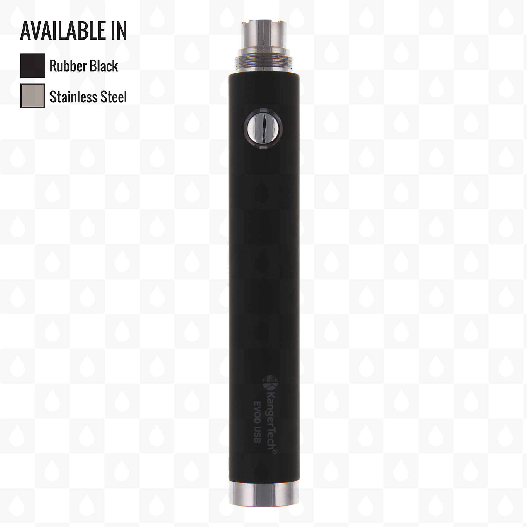 Kanger Evod Usb Passthrough E Cigarette Battery Includes Lead Wiring Including The Power Inside Coilsbox My Term Rubber Black 650mah