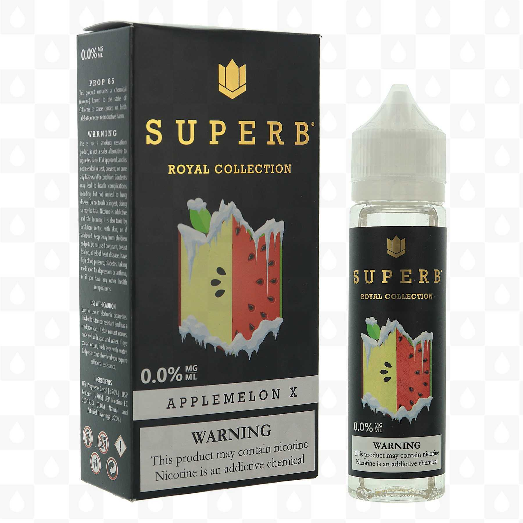 Applemelon X by Superb E Liquid | Royal Collection | 50ml Short Fill